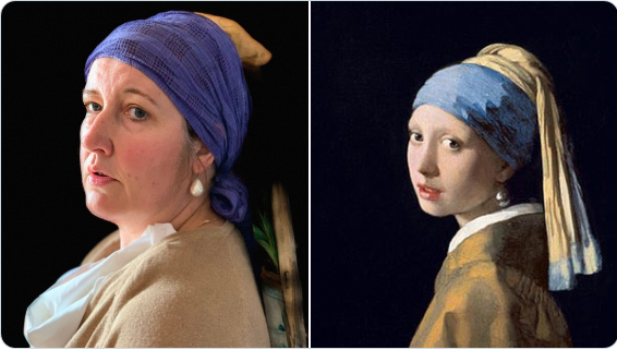 Tracy Jones as Vermeer's Girl with a Pearl Earring