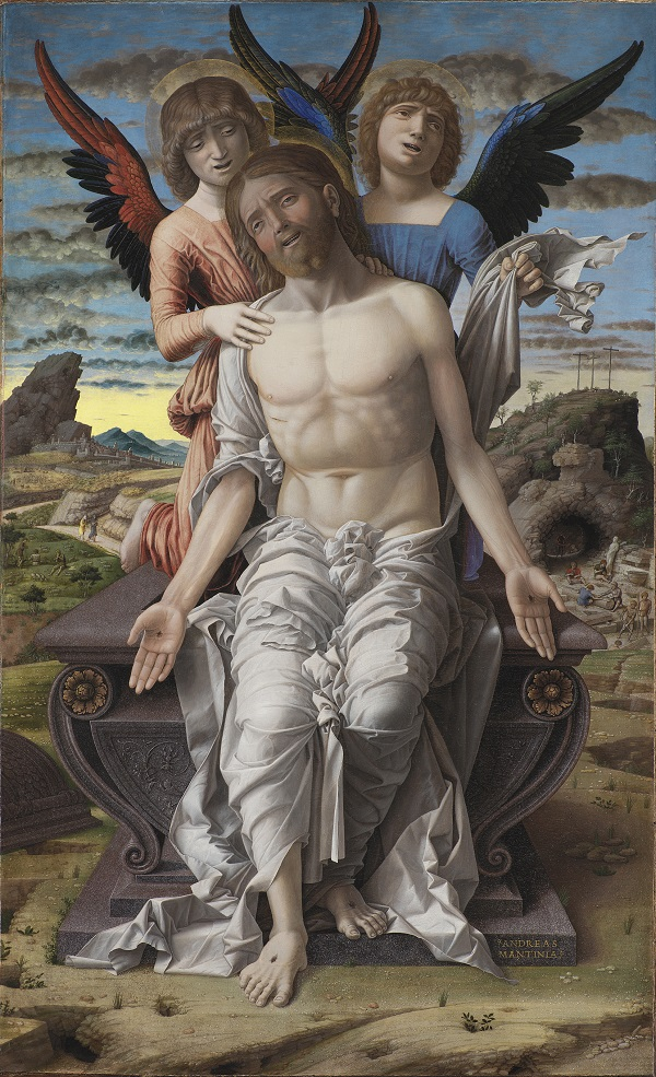 Andrea Mantegna, The Dead Christ supported by Two Angels  about 1485–1500, © Statens Museum for Kunst, Copenhagen