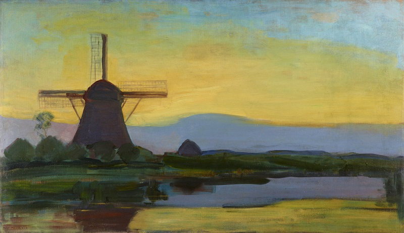 Piet Mondrian [1872-1944]  Oostzijdse Mill in the Evening, c. 1907-1908, Oil on canvas, Gemeentemuseum Den Haag