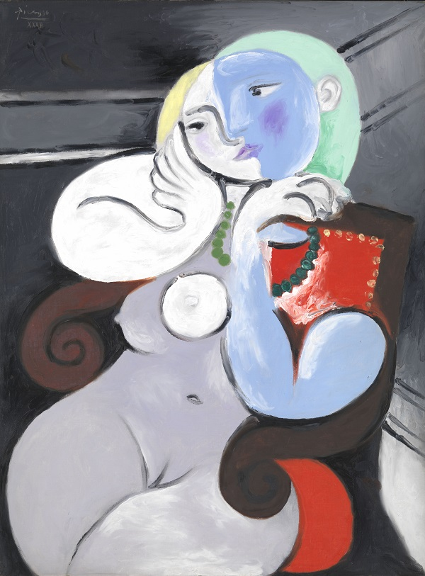 Seated Woman in a Red Armchair, 1932, Oil on canvas, Musee national Picasso -Paris, Dation Pablo Picasso, 1979. (c) Succession Picasso/DACS London 2018
