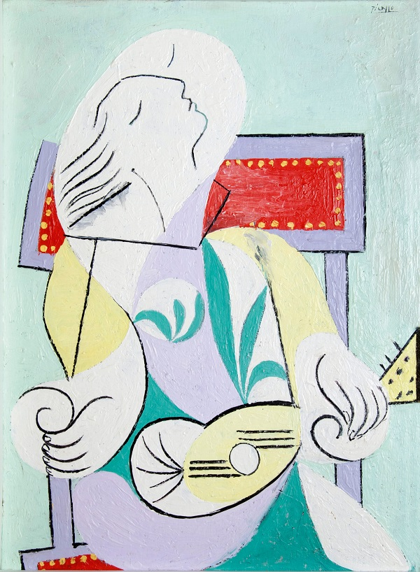 Young Woman with Mandolin, 1932 Oil on board, The University of Michigan, Ann Arbor, Michigan. Gift of the Carey Walker Foundation (c) Succession Picasso/DACS London 2018