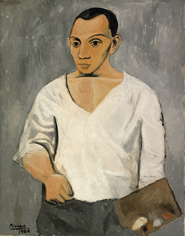 Pablo Picasso, Self-Portrait with Palette, 1906; Philadelphia Museum of Art: A. E. Gallatin Collection, 1950