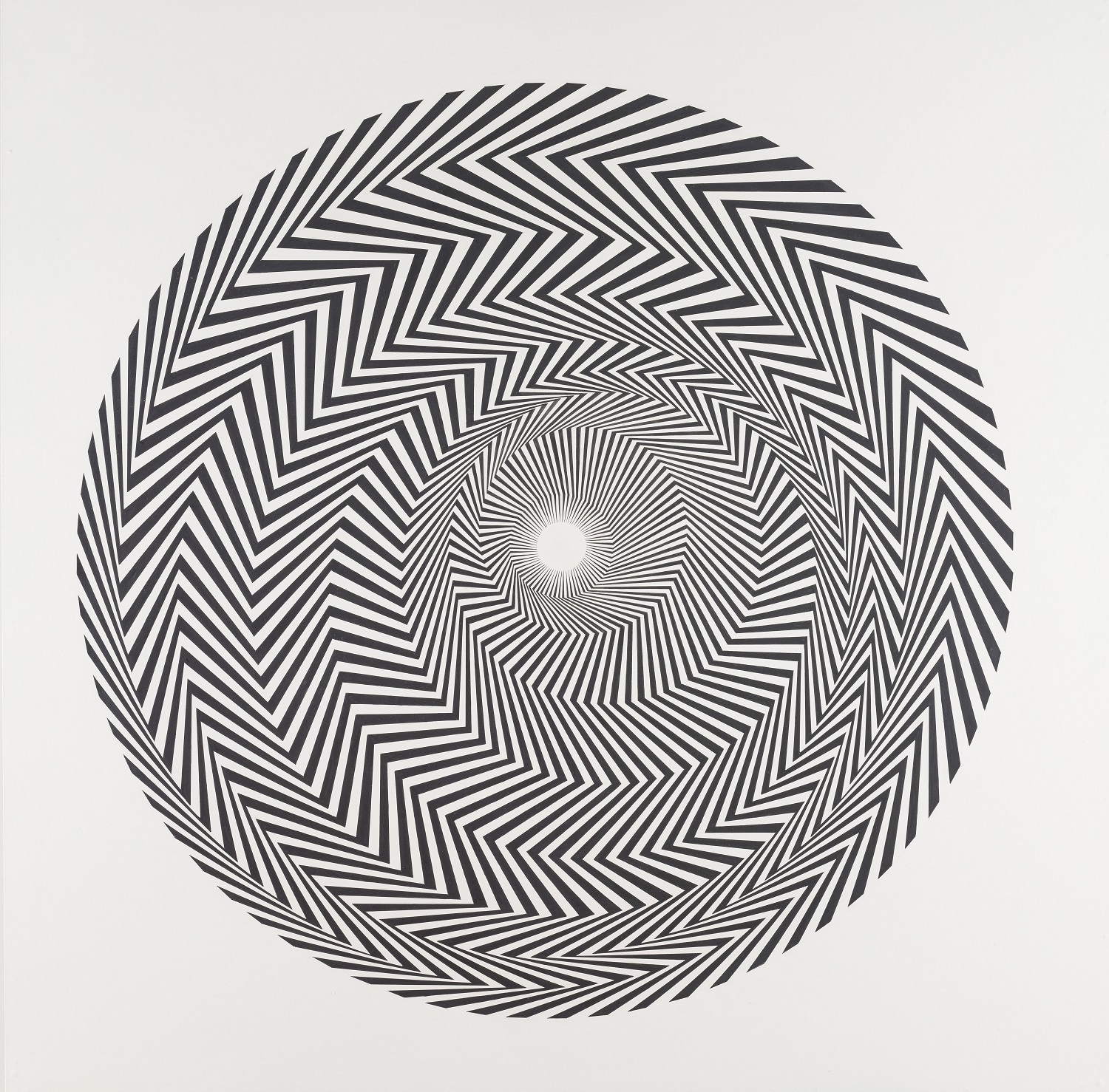 Bridget Riley Blaze 1, 1962 Private collection, on long loan to National Galleries of Scotland 2017 © Bridget Riley 2019. All rights reserved.  Photo © National Galleries of Scotland