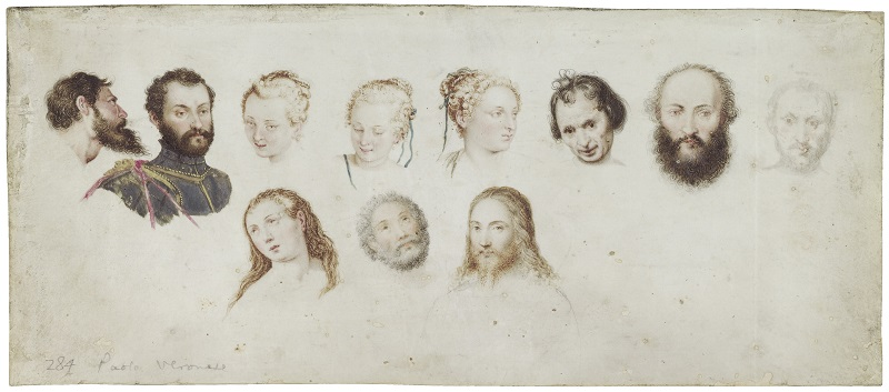 Studies of Six Male and  Five Female Heads  Late sixteenth century  Unidentified artist after various artists, including Paolo Veronese  Reproduced by permission of Chatsworth Settlement Trustees. © Devonshire Collection