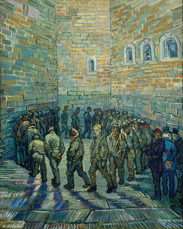 Van Gogh, The Prison Courtyard, 1890. The Pushkin State Museum of Fine sArts, Moscow