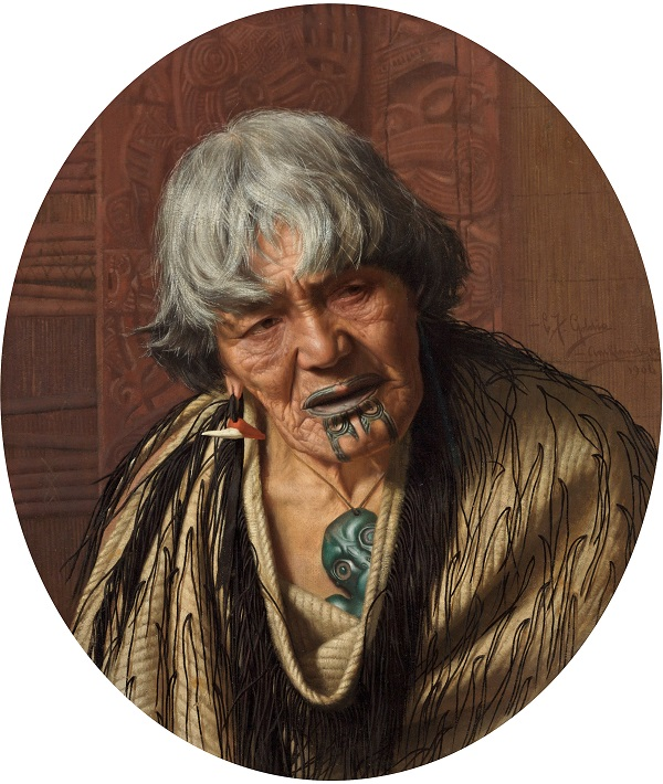 Charles Frederick Goldie, A Maori Chieftainess, 1906, Oil paint on canvas, Russell-Cotes Art Gallery and Museum