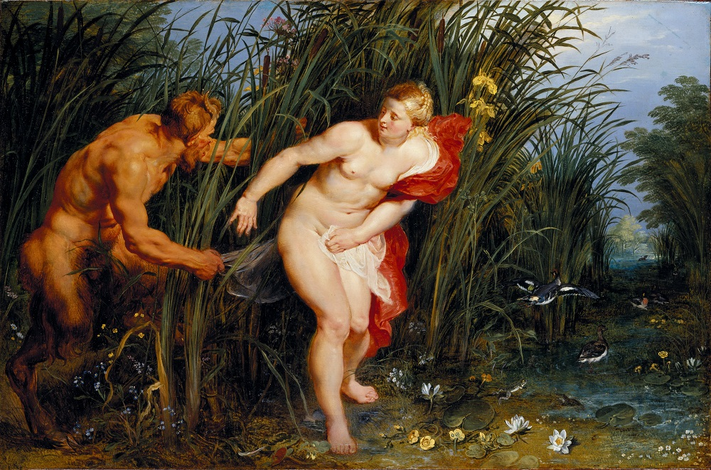 Peter Paul Rubens, Pan and Syrinx, 1617, oil on panel, Museumslandschaft Hessen Kassel, Gemäldgalerie, Alte Meister, Kassel © Ute Brunzel