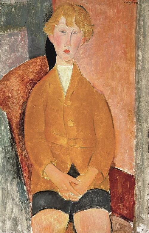Boy in Short Pants, c.1918, Oil paint on canvas, Dallas Museum of Art, gift of the Leland Fikes Foundation, Inc. 1977