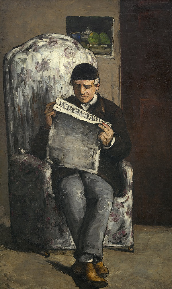 "The Artist's Father, Reading ""L'Evénement"" by Paul Cézanne 1866 National Gallery of Art, Washington, D.C. Collection of Mr. and Mrs. Paul Mellon, 1970.5.1"