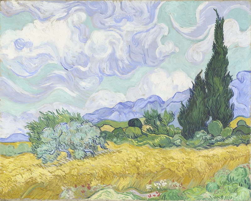 Vincent Van Gogh, A Wheatfield, with Cypresses, 1889, © The National Gallery, London