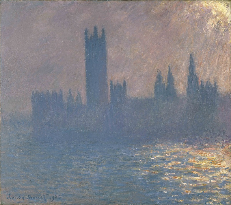 Claude Monet, Houses of Parliament, Sunlight Effect, 1903, Brooklyn Museum of Art, New York