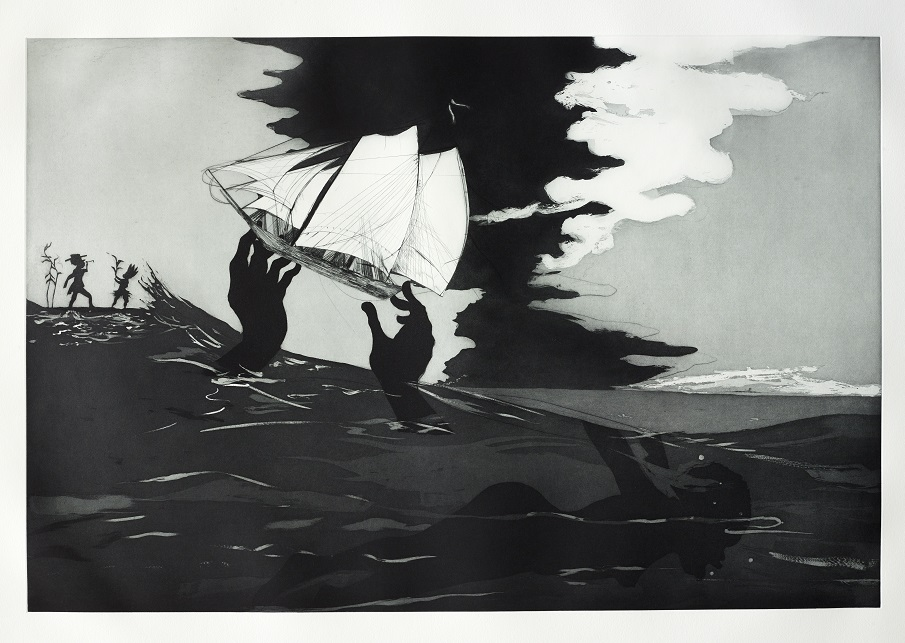 no world from An Unpeopled Land in Uncharted Waters, 2010, Kara Walker, British Museum