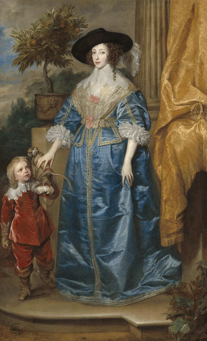 Anthony van Dyck, Queen Henrietta Maria with Sir Jeffrey Hudson, 1633 © Courtesy National Gallery of Art, Washington