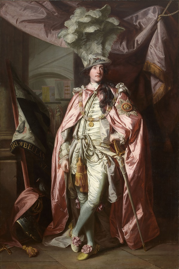 Joshua Reynolds (1723 – 1792) Portrait of Charles Coote, 1st Earl of Bellamont (1738 – 1800), in Robes of the Order of the Bath, 1773 – 1774, Photo © National Gallery of Ireland