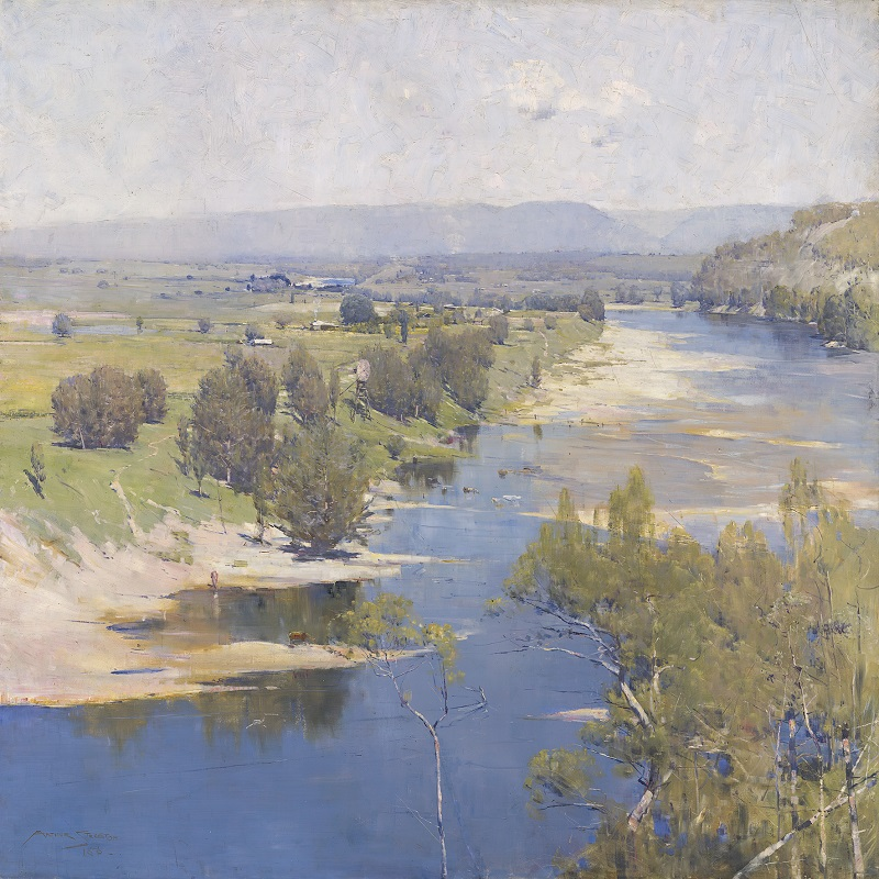 'The purple noon's transparent might' Arthur Streeton 1896	National Gallery of Victoria, Melbourne Purchased, 1896