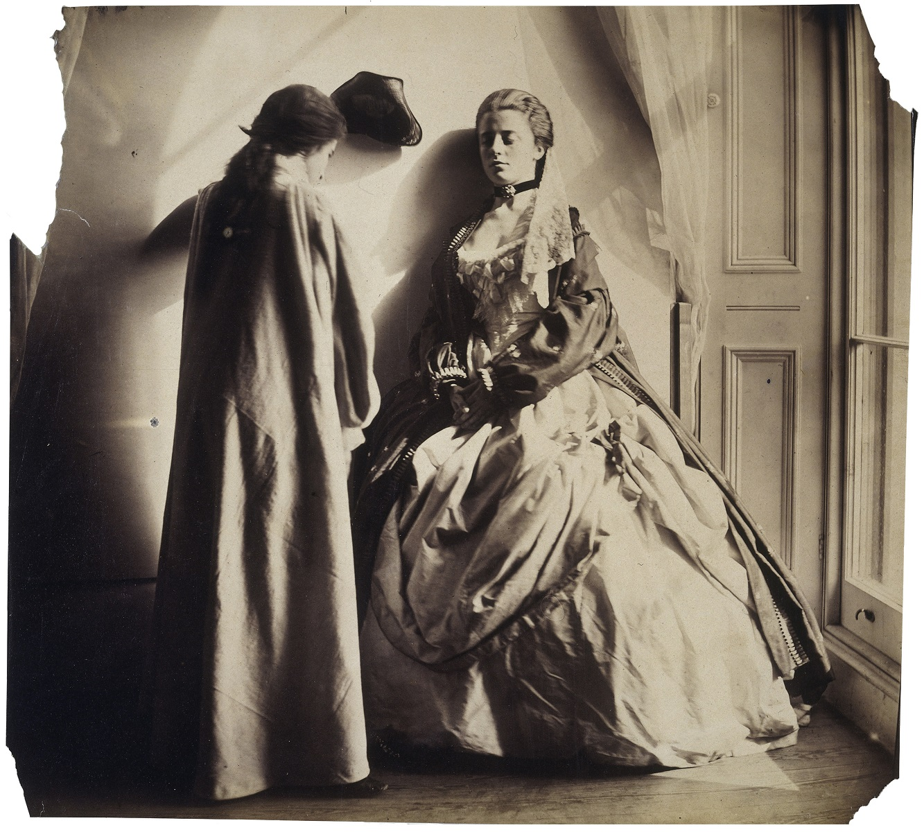 Photographic Study (Clementina and Isabella Grace Maude) by Clementina Hawarden, 1863-4