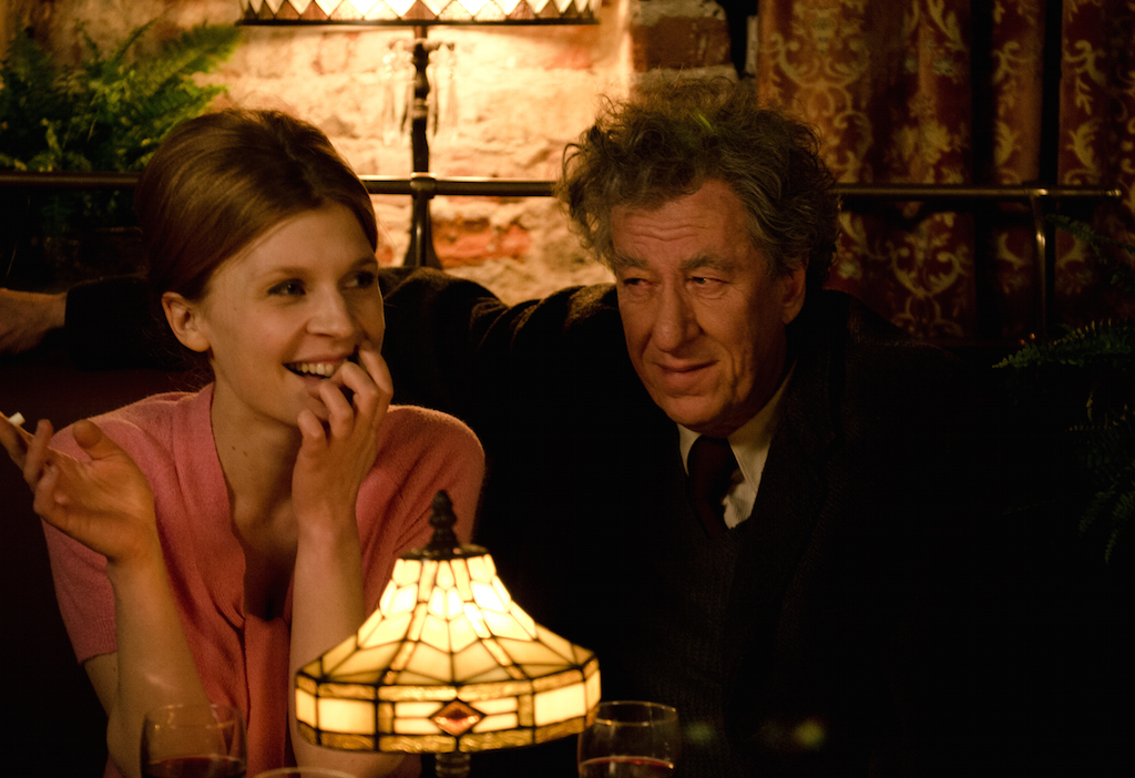 Clemence Poesy and Geoffrey Rush in Final Portrait