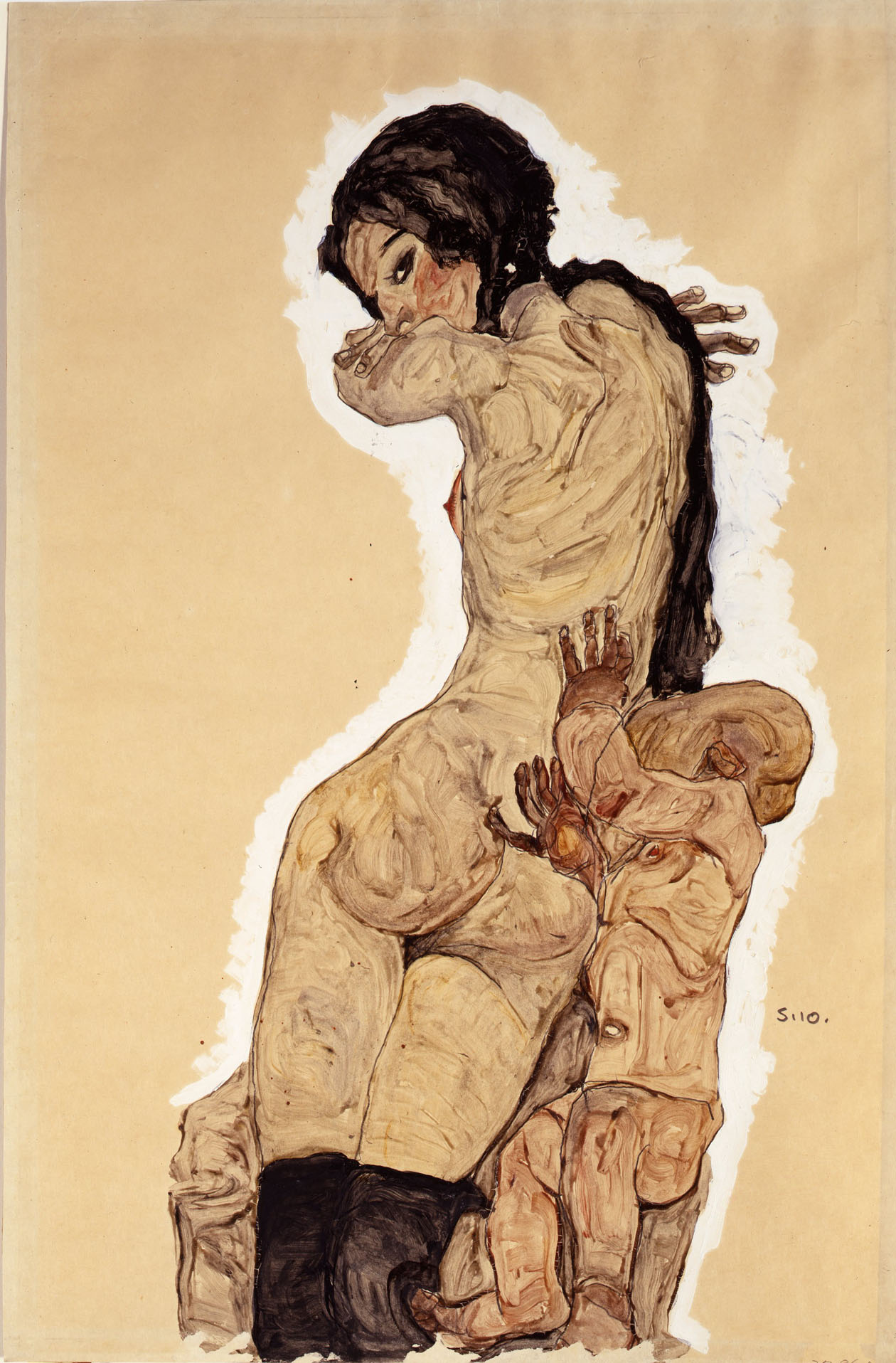 Woman with Homunculus by Egon Schiele (1910)