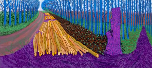 David Hockney, Winter Timber, 2009