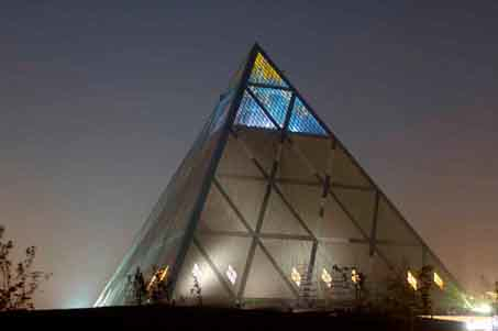 brian clarke norman foster pyramid of peace