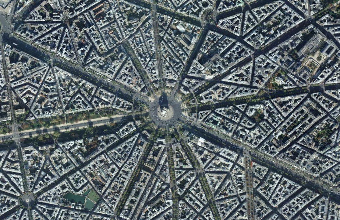 Haussmanian Paris - aerial view