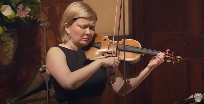 Violinist Alina Ibragimova at the Wigmore Hall