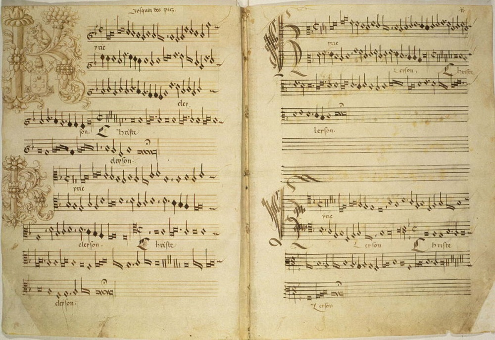 Page from Josquin Mass