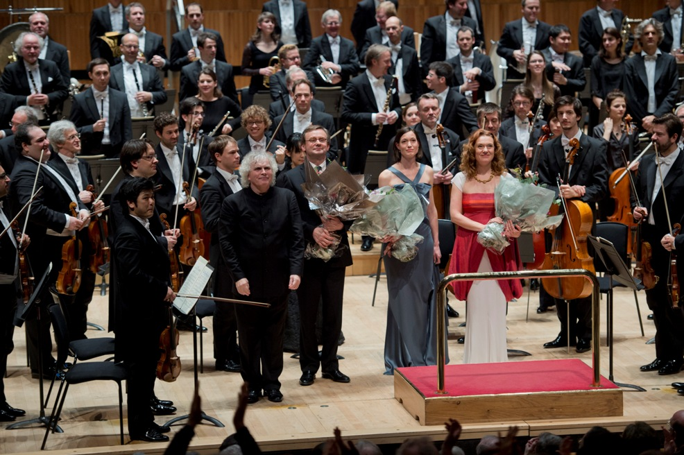 Curtain call for Rattle's Resurrection at the Festival Hall