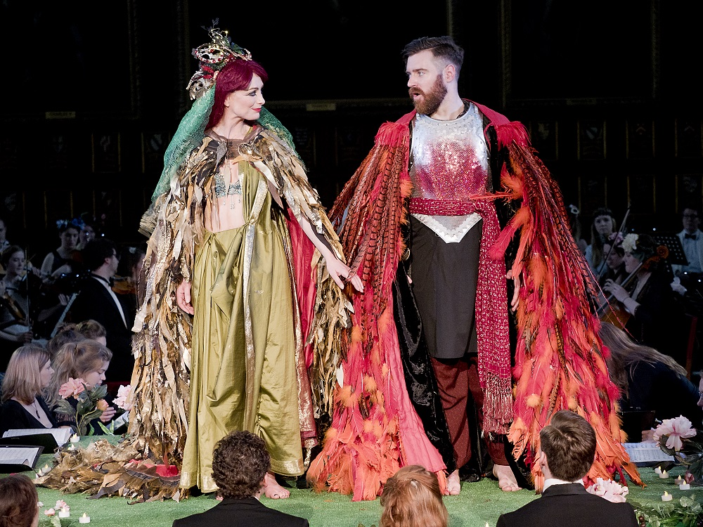 Lucy Thatcher and David North as Titania and Oberon