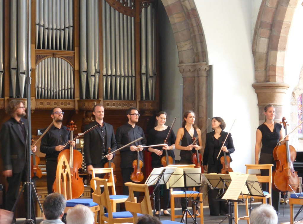 Retreat performers after Mendelssohn Octet
