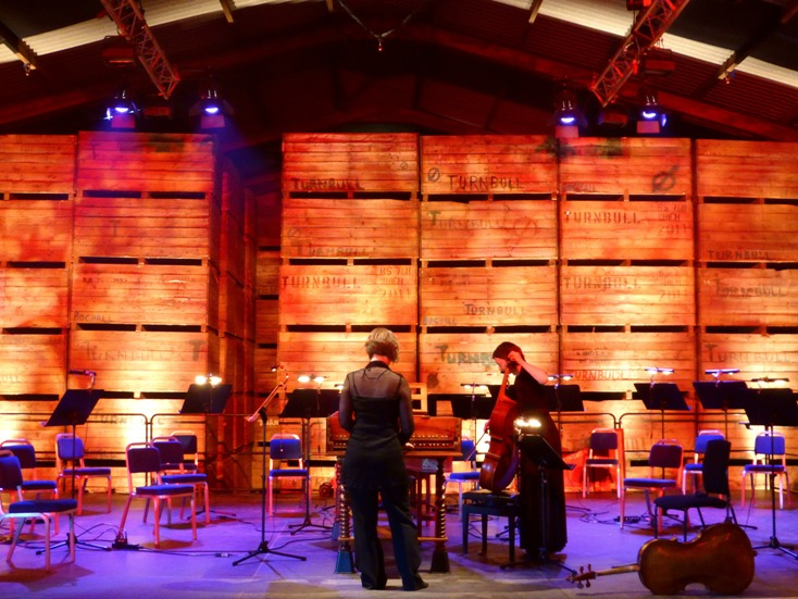 Cambo Barn before Dunedin concert