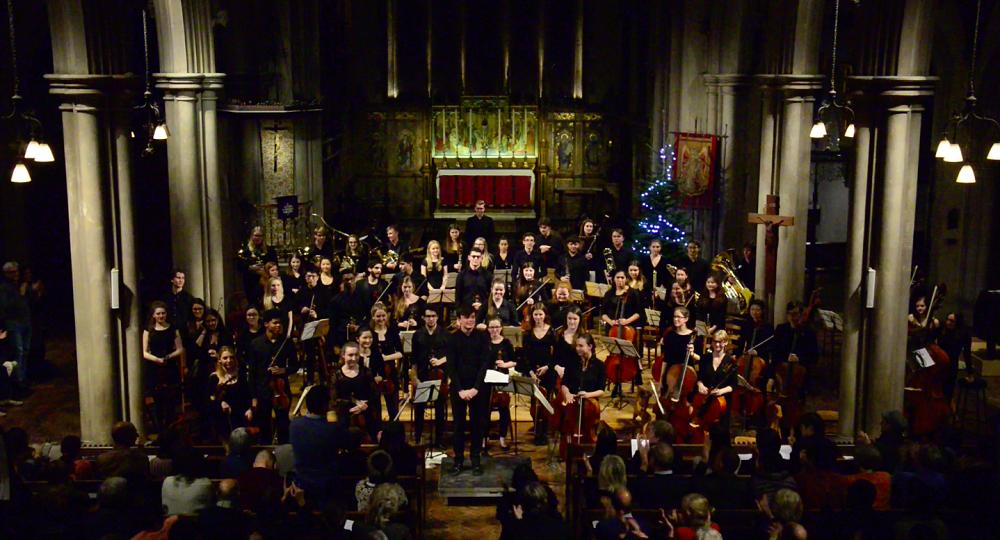 Fantasia Orchestra at the end of Pimlico concert