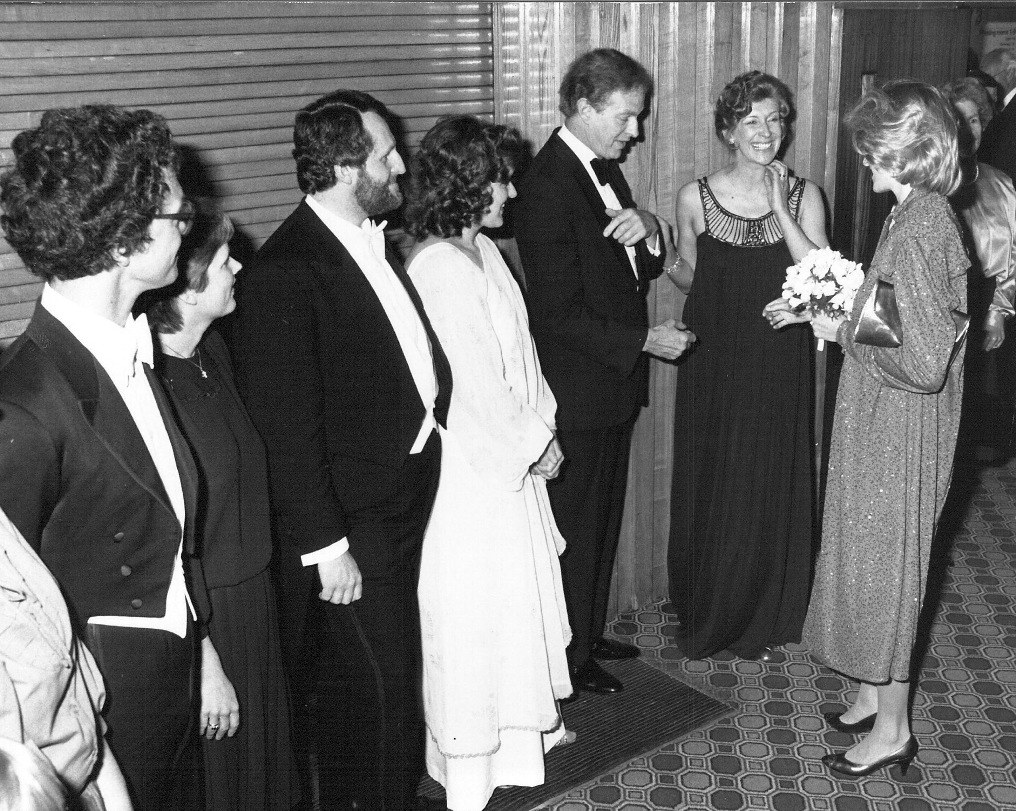 Felicity Lott greeting Princess Diana, ?1984?