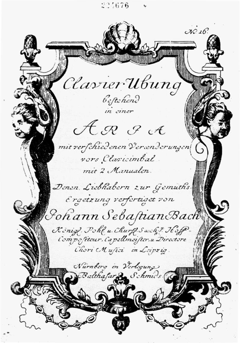 Bach Goldberg Variations title page