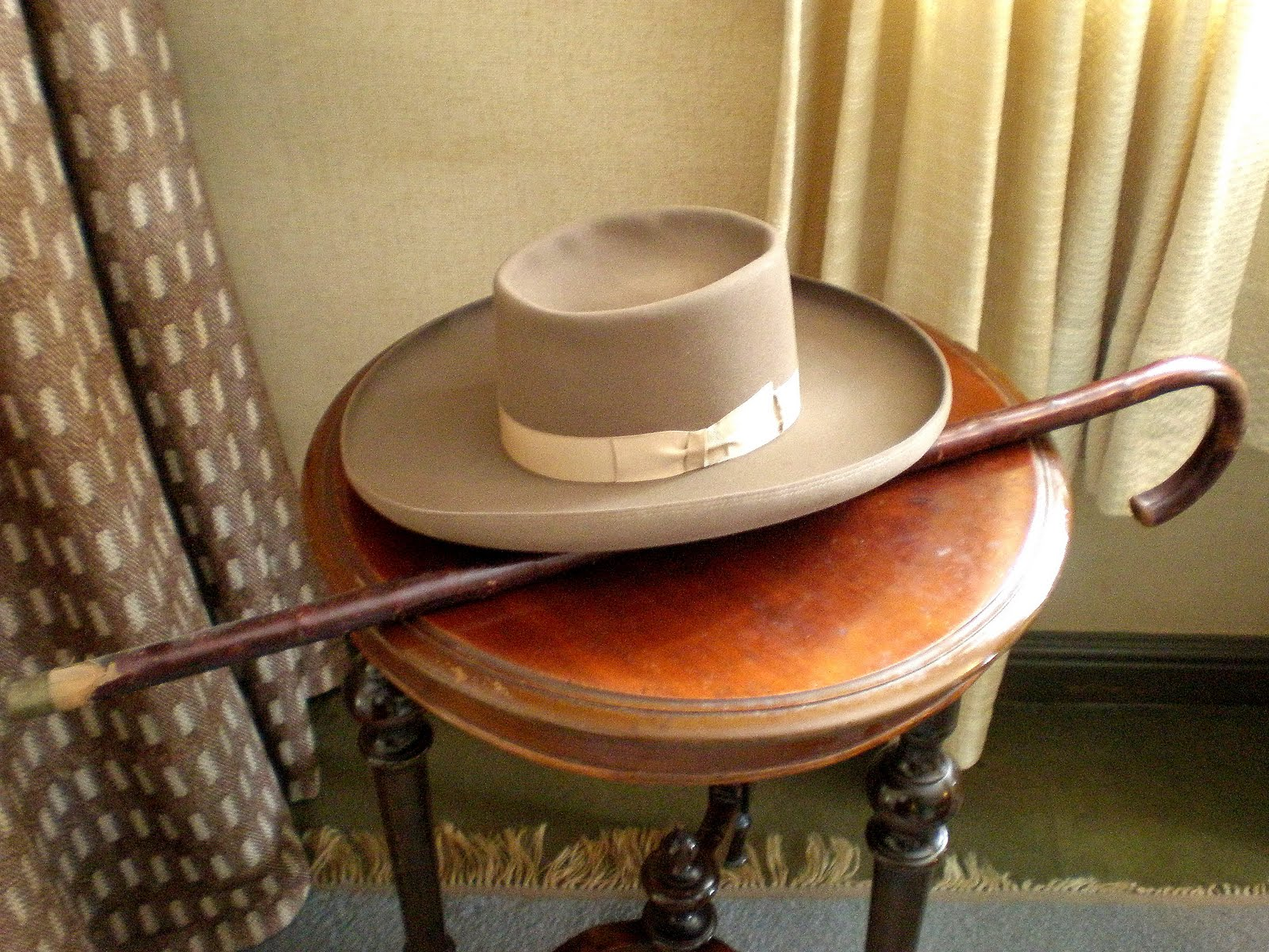 Sibelius's hat and cane at his house-museum, Ainola