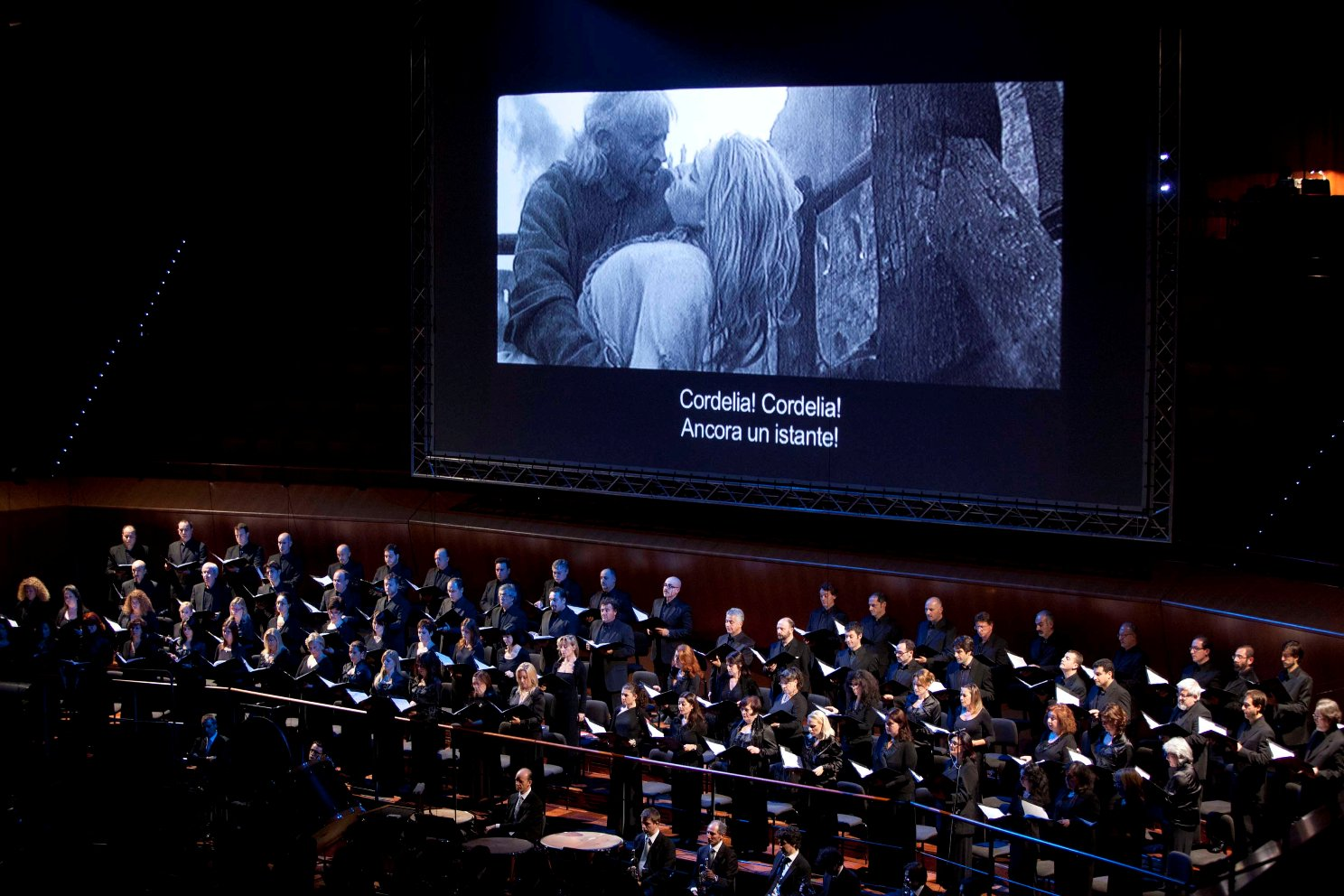 Accademia di Santa Cecilia chorus conducted by Abbado in Shostakovich's music for Kozintsev's film of King Lear