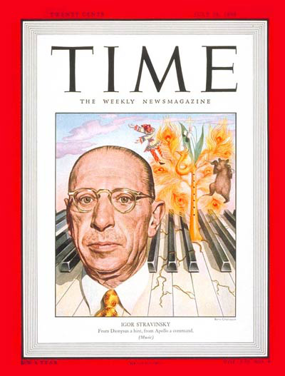 Stravinsky in Time Magazine