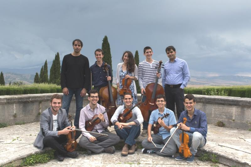 Polyphony players at La Foce