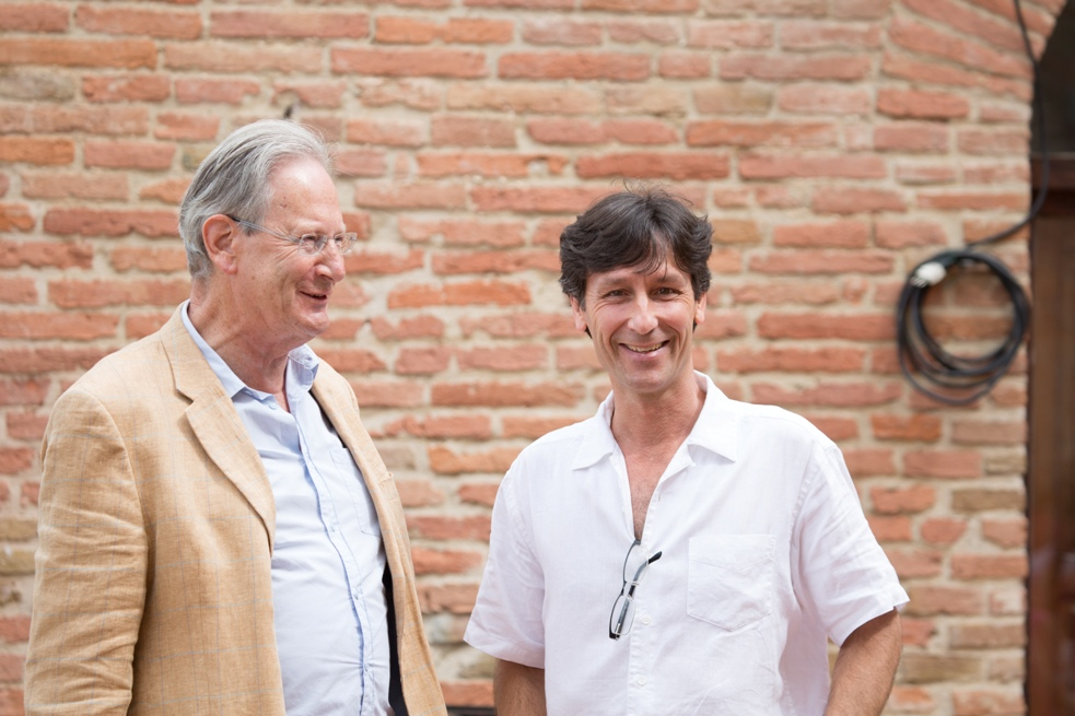 Sir John Eliot Gardiner and Antonio Lysy in Montepulciano