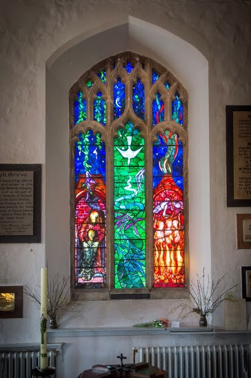 Piper's Britten memorial window in Aldeburgh Church by Robert Workman