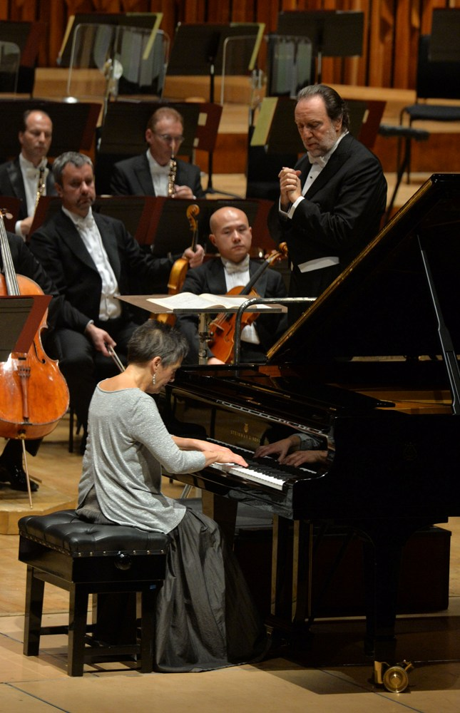 Chailly and Pires at the Barbican