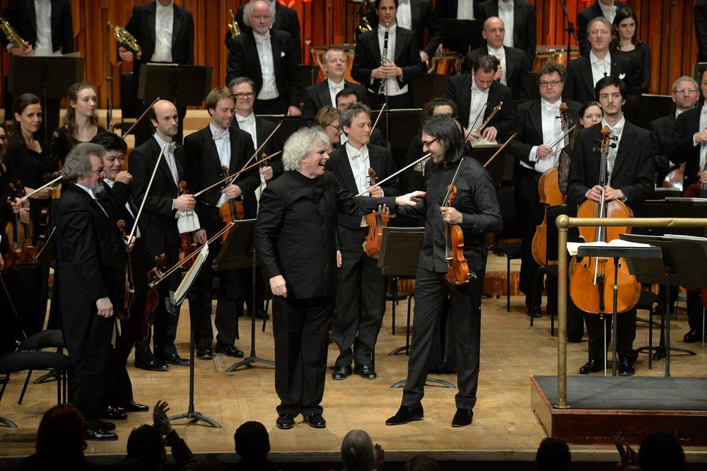 Rattle at the Barbican with Kavakos and Berlin Philharmonic players