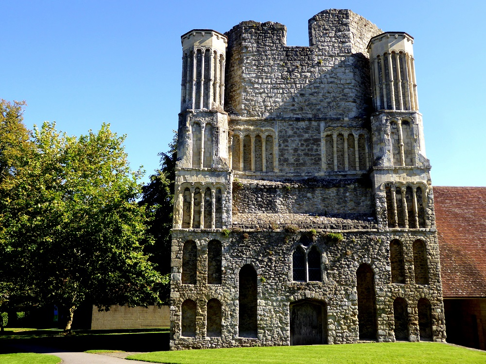 The original west tower of Malling Abbey