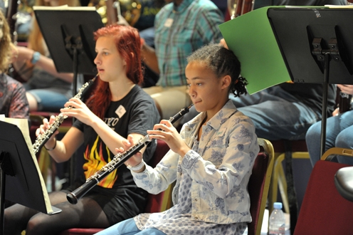 EUYO and British youth orchestra player at the Albert Hall
