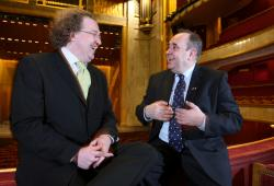 Demeve with Alex Salmond in Paris