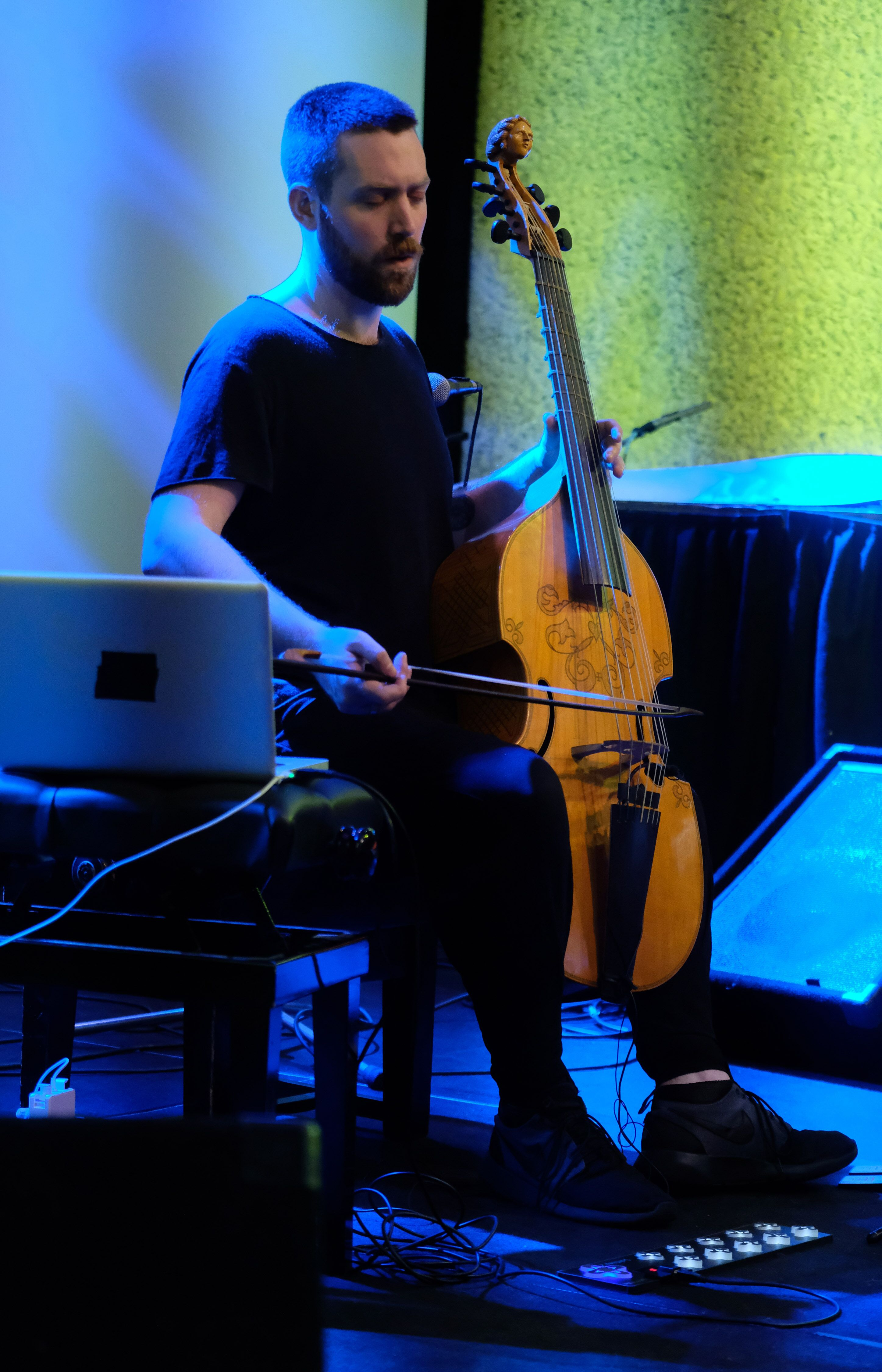 Liam Byrne playing at a previous Sound Unbound festival
