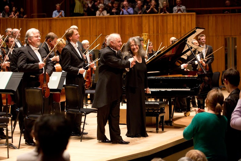 Barenboim and Argerich after Southbank Schubert performance
