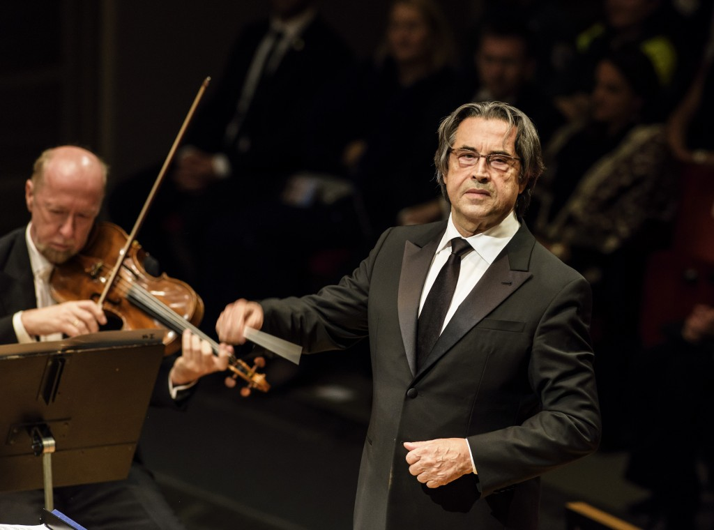 Muti conducting the Vienna Philharmonic at the Birgit Nilsson Prize Ceremony