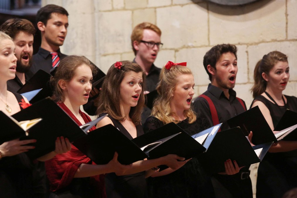 National Youth Chamber Choir singers at Southwark Cathedral