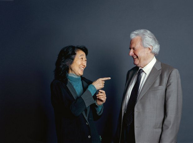 Mitsuko Uchida and Sir Colin Davis by Gautier Deblonde